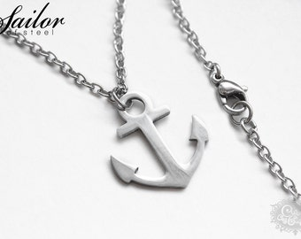 Anchor necklace 'SAILOR of steel' made of stainless steel