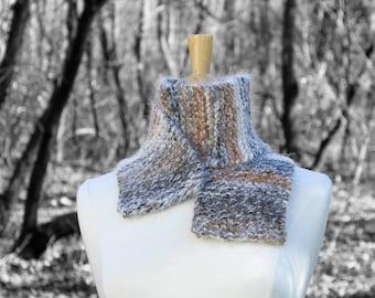 Brown knit scarf, striped brown scarf, warm winter scarf, warm fuzzy scarf, traditional scarf, warm wool scarf, scarf for him