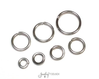 Heavy Duty Jump Rings, 16 gauge, 1.2mm, Stainless Steel, Closed Unsoldered, Choose 5mm, 6mm, 7mm, 8mm, 9mm, 10mm, Lot Size 100 to 1000