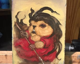 Oil Sketch 004 - Spear Lady Marmot