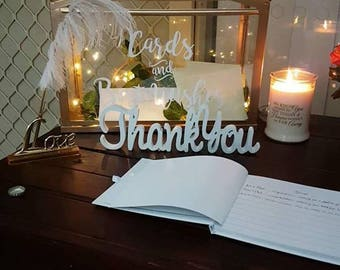 Thank You 15cms Wooden Wedding Sign