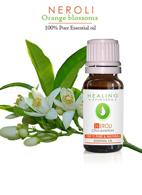 Neroli Essential oil- 100% Pure Therapeutic Neroli- Natural Orange blossoms oil- bath & beauty oil, Aromatherapy Skin care oil-Mature skin