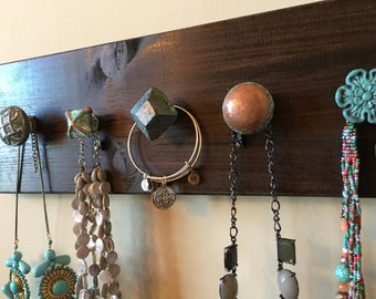 Rustic Wood Jewelry Holder
