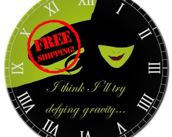 Elphaba Wicked Defying Gravity Clock