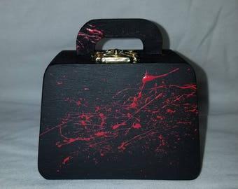 Small Blood splatter purse