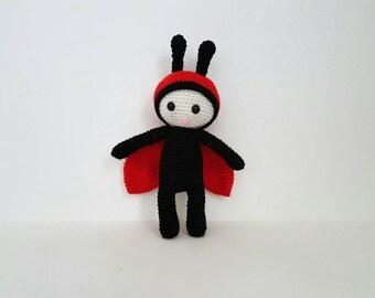 Lady bug Toy, Crochet Lady bug, Soft Lady Bird Toy, Handmade Crochet Ladybird, Amigurumi Ladybug, Baby Shower Gift- MADE TO ORDER