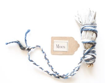 White Sage Smudge Stick Handpicked in California, sacred oocult apothecary, ceremonial sage, planet symbols and colors