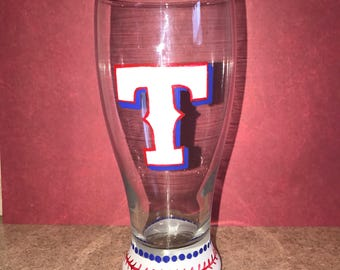 Texas Rangers Pilsner Pub Glass
