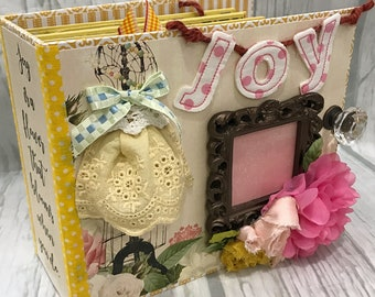 JOY All Occasion Scrapbook Scrapbooking Chipboard Mini Album
