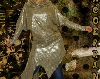 'Golden Lady...' stretch knit tunic sweater