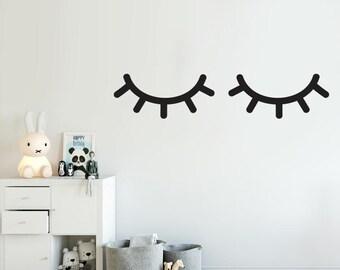 Sleepy Eyes decal - Choose Your Color, Sleepy Eyes Stickers, Closed Eyes Decals, Sleeping Eyes Decals
