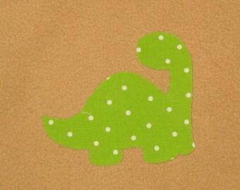 Handmade Fantasy Applique Dino - infant applique, toodler applique, applique, DIY handmade