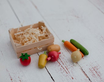 Vegetables Wooden Play Food Set