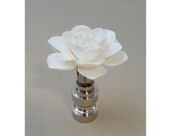 Lotus Flower Lamp Finial....Custom Crafted...Custom Colors