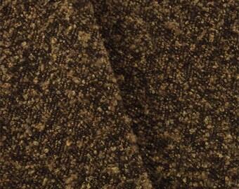 Sienna Brown Herringbone Boucle Upholstery Fabric, Fabric By The Yard