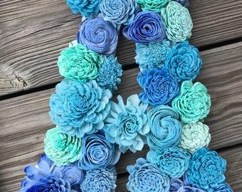 Sola Flower Covered Letter
