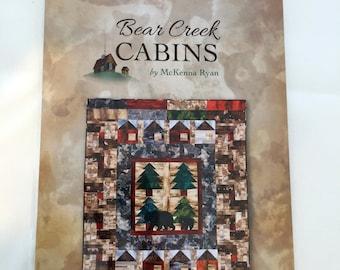 BEAR CREEK CABINS quilt pattern by McKenna Ryan easy pieced quilt - lap size, throw size