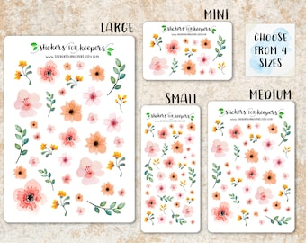 Floral Stickers, Flower Stickers, Decorative Stickers, Planner Stickers, Bullet Journal Stickers, TN Stickers, Floral Planner Stickers SK001