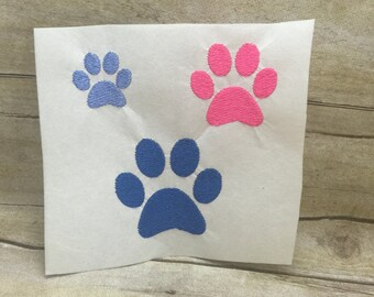 5 Sizes Paw Print Embroidery Design, Small Paw Print Embroidery Design