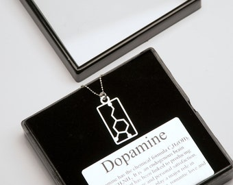 Dopamine Molecular Structure Necklace