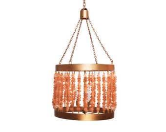 Recycled Rose Glass Chandelier