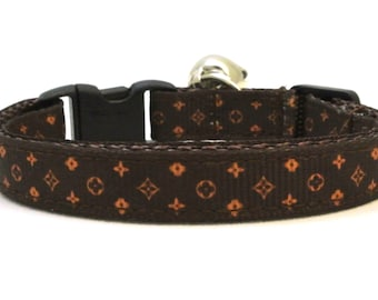 The Brown Trendsetter Breakaway Cat Collar