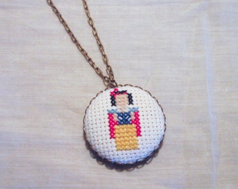 Snow White Princess Necklace, Disney Fan Gift, Minimalistic