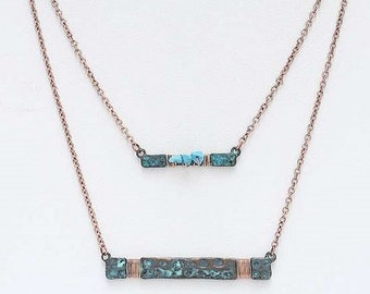 Turquoise and Patina Necklaces