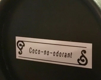 Coco-no-Odorant - A Natural Coconut Oil + Baking Soda Deodorant