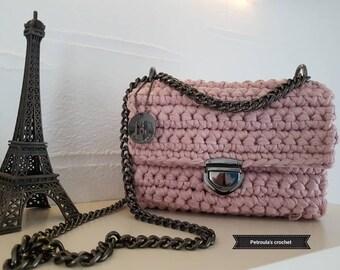 T-shirt yarn Crocheted Bag,Handbags,Handmade,