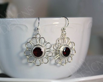 Garnet Sunshine Earrings