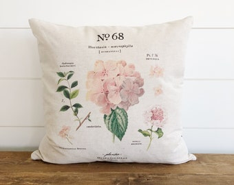 Pink Hydrangea  Pillow Cover
