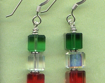 Christmas Ice Sterling Silver Earrings