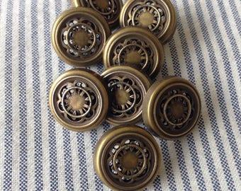Vintage 17mm ornate metal buttons