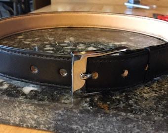 Mens Leather Belt/Mens Belt/Leather belts/Lined Belt