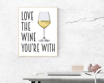 Wine Poster - Bar Prints - Wine Art - Bar Art - Bar Decor - Kitchen Art - Wine Gift - Wine Quote - Wine Decor - Wine Print - Kitchen Decor
