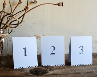 lavender tented table number cards for wedding, shower, party set of 10 - tallulah
