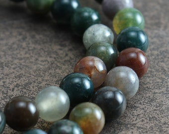 Fancy Jasper Beads 6mm Round - full strand