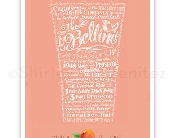 "Handlettered ""das Bellini – Harry's Bar"" Kunstdruck"