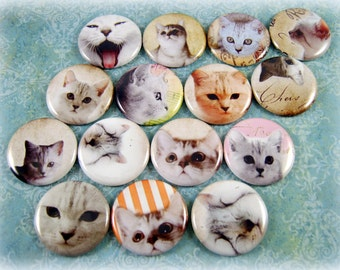 Cat Magnets Pins Gift Sets Party Favors Fridge Magnets Refrigerator Magnets White Cats Feline