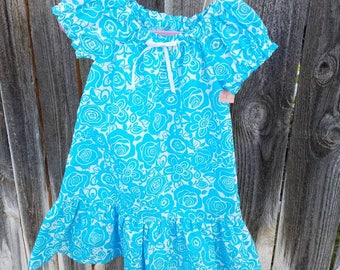 Toddler Peasant dress with ruffles. 1T