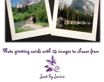 Handmade greeting cards with professionally printed nature prints -- 5 x 6.5 inches -- 13 image options -- sets of 4 or 8 -- blank inside