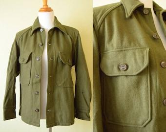 Vintage 1960's  Wool Military Jacket   Vietnam Era