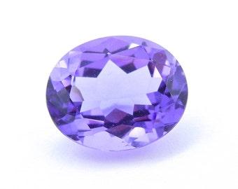 Amethyst - Oval Shape Purple Amethyst - Disney - Gemstone - Loose Gem - Lapidary - Faceted - Disney - February Birthstone # 4387