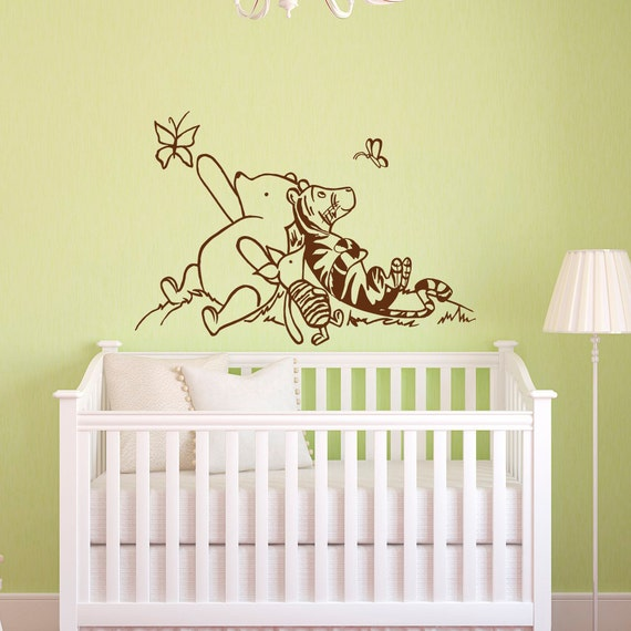 Wall Decal Winnie The Pooh Nursery Decor Classic Winnie The