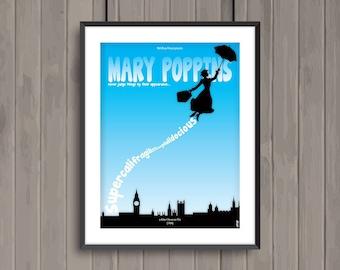 MARY POPPINS, minimalist movie poster