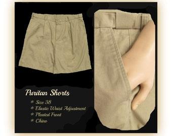 vintage men's shorts,men's chino shorts, casual shorts, men's brown shorts, Size 38,    # 37