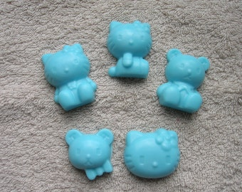 5 pcs. Set soap, children's soap, Mitgebsel, children's birthday, raffle, kitty