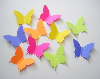 25 Extra Large Brights Country Butterfly die cut punch scrapbook embellishments - No301