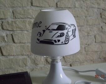 Custom sports car bedside lamp